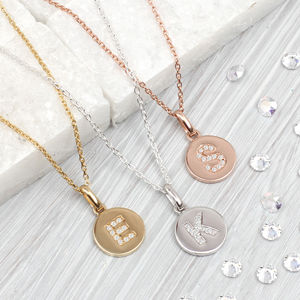 Genuine Diamond Initial And Precious Metal Necklace - personalised jewellery