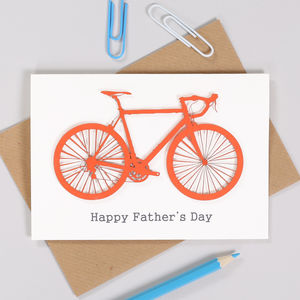 Personalised Bicycle Fathers Day Card For Him - personalised