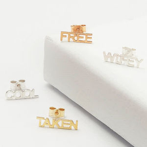 Personalised Stud Earrings - gold earrings