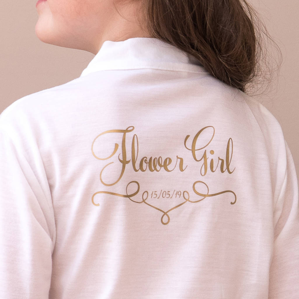 Personalised Wedding Dressing Gown For A Bridesmaid By Sparks And Daughters Notonthehighstreet Com