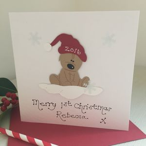 Personlised Baby's 1st Christmas Card - cards & wrap