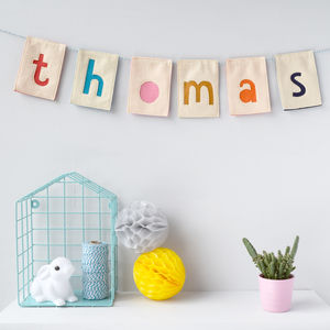 Personalised Bunting - children's room accessories