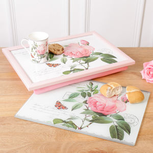 Gift For Mum Floral Lap Tray, Board And Mug - trays