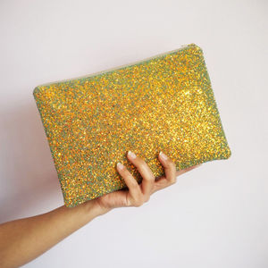 Sparkly Glitter Clutch Bag