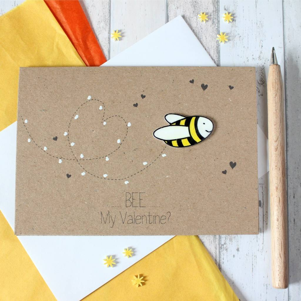 bumble bee be my valentine valentines day card by little – Original Valentines Cards