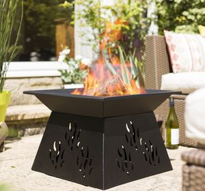 Steel Pattern Paro Firepit - fire pits & outdoor heating