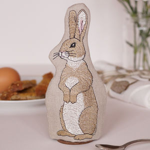 Embroidered Rabbit Egg Cosy - egg cups & cosies