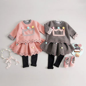 Pom Pom Crown Tunic And Tutu Leggings Set - clothing
