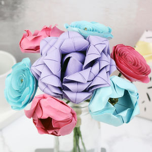 Pastel Paper Flowers Bouquet - room decorations