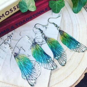 Magical Rainbow Faerie Wing Earrings