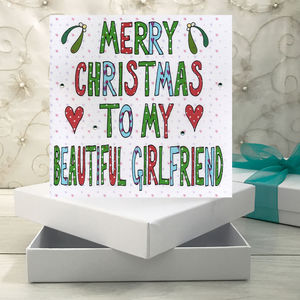 Personalised Girlfriend Christmas Book Card