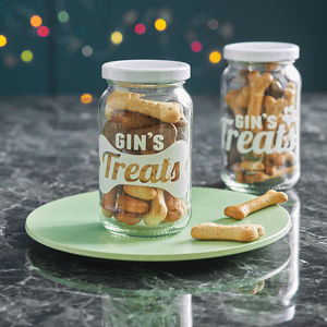 Personalised Pet Treats Storage Jar - food, feeding & treats