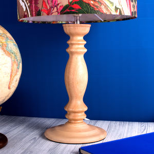 Curved Country Home Style Wooden Lamp Stand Base - lighting