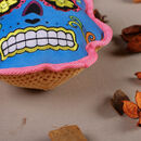 Halloween Sugar Skull Dog Toy Gift Set