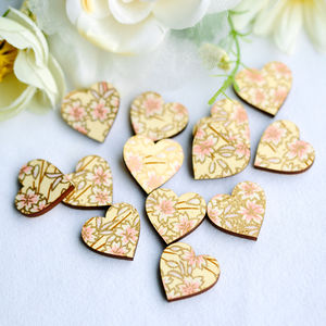 Scatter Love Hearts Wooden Table Confetti - spring styling