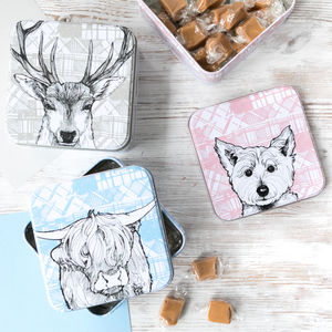 Scottish 'Tartan Animals' Fudge Tins