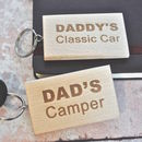 Personalised Wooden Car Keyring