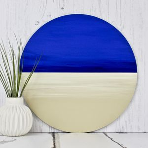 Bespoke Circular Modern Painting Beach - canvas prints & art