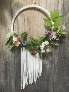 Wedding Wreath With Fringing - on trend: botanical