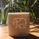 Porcelain Elephant Tea Light