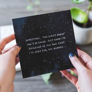 'The Right Words' Sympathy And Empathy Card