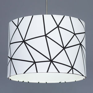Monochrome Geometric Lampshade Choose Of Linings