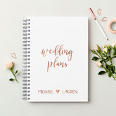 Personalised Rose Gold Wedding Plans Book - weddings