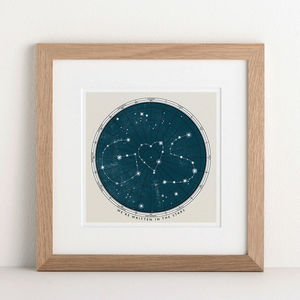 Personalised Star Map Print - wedding gifts