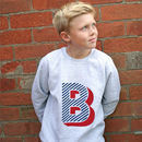 Kids Monogram Jumper Letter B