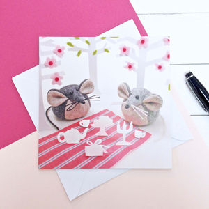 Picnic Party Mouse Greeting Card