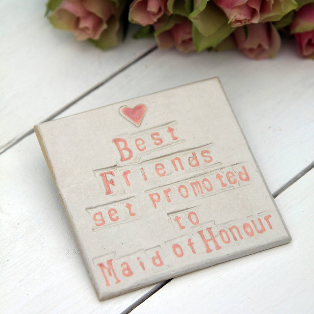 Bridesmaid Ceramic Coaster