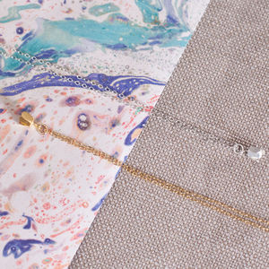 Tiny Bud Necklace - new in wedding styling