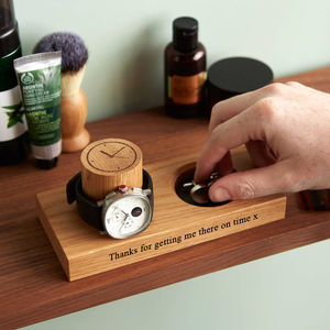 Personalised Cufflinks Tray And Watch Stand - personalised sale