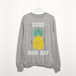 Good Hair Day Pineapple Women's Slogan Sweatshirt - sweatshirts & hoodies