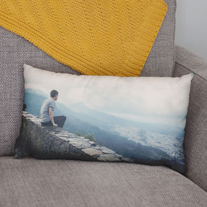 Personalised Rectangular Photo Cushion - children's room