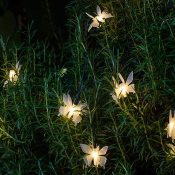 10 Solar Butterfly Fairy Lights