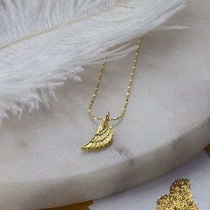 Gold Plated Sterling Silver Angel Wing Necklace