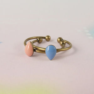 Delicate Stackable Tiny Drop Ring - rings