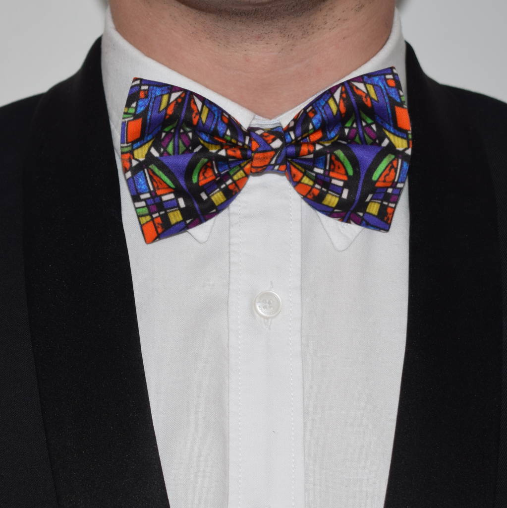 Modern Bow Tie Stained Glass Print