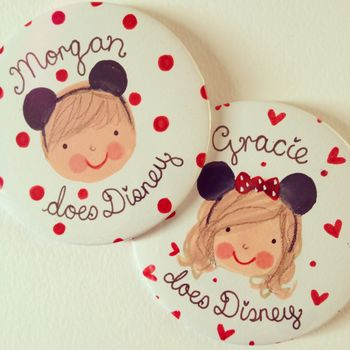 Personalised Mouse Ear Badge