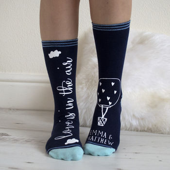 Love Is In The Air Personalised Luxury Socks