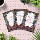 Meadow Boho Floral Wedding Table Numbers Pack