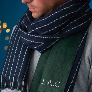 Personalised Men's Stripe Scarf - gifts for him
