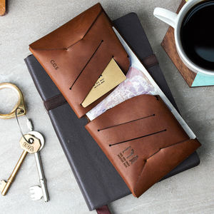 Personalised Origami Leather Wallet - 30th birthday gifts