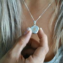 Sterling Silver And Gold Filled Star Locket Necklace