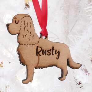 Cavalier Spaniel Personalised Wooden Decoration