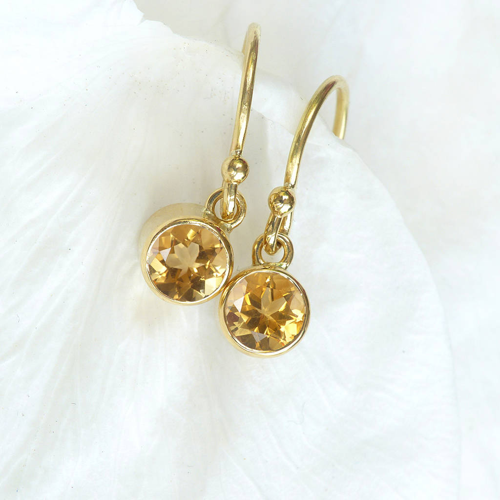 citrine naples i earrings
