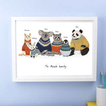 Personalised Animal Family Print