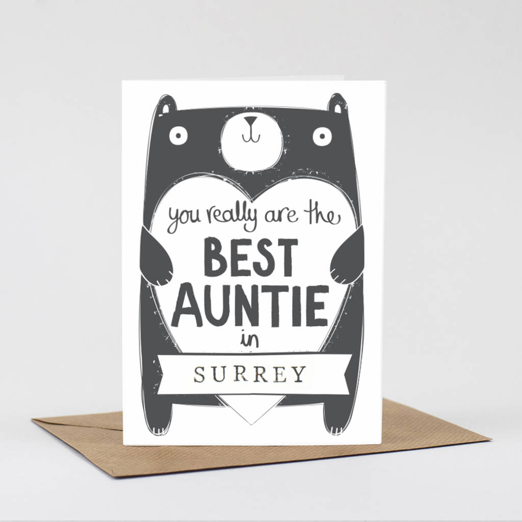 Auntie Birthday Card