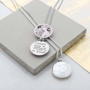 I Love You To The Moon And Back Locket - gifts for her